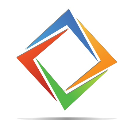 Diamond colorful logo  Illustration