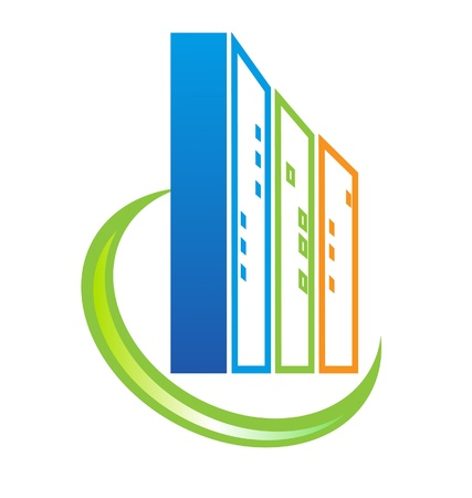 construction companies: Building real estate logo Illustration
