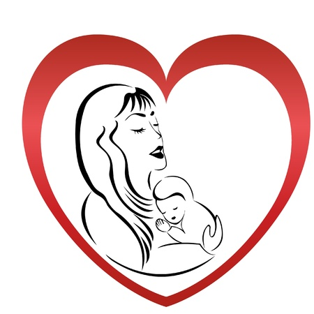 born saint: Mother and son logo