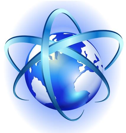logotipo abstracto: Swirl mundo