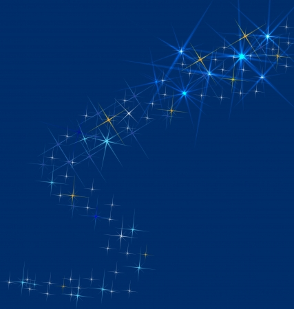 star background: Shooting star - background or greeting card vector