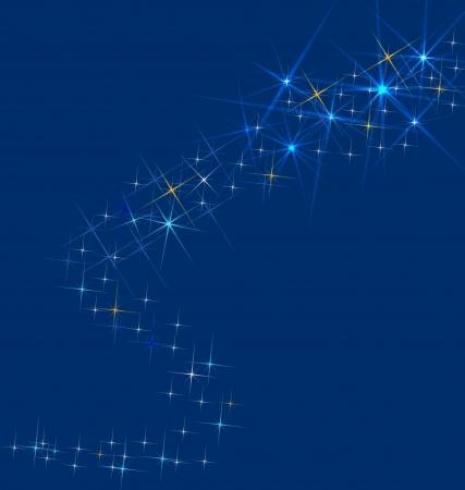 etoiles filante: Shooting star - fond ou un vecteur carte de voeux