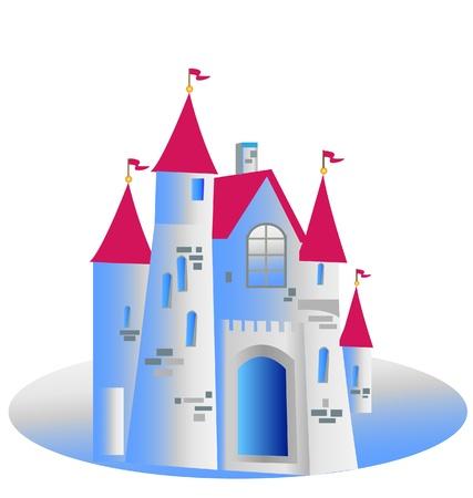 fortresses: Princess Castle Vector Illustration  Illustration