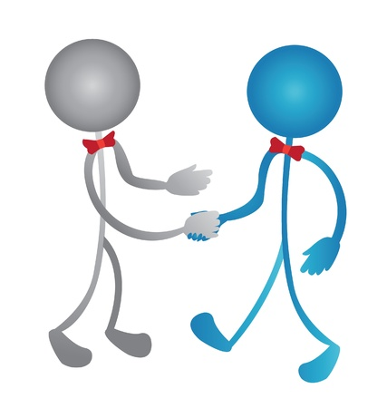 Handshake business people logo Stock Vector - 15220909