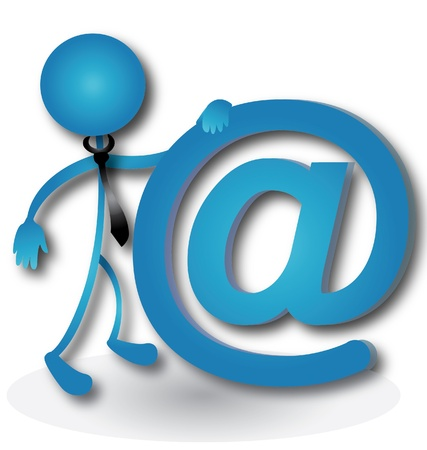 People with the email sign vector