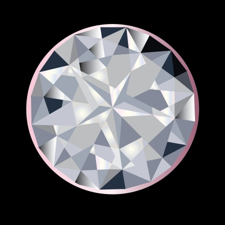 karat: A beautiful sparkling sapphire diamond Illustration