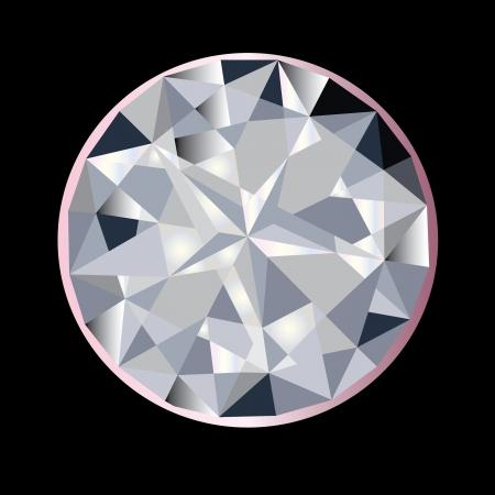 A beautiful sparkling sapphire diamond Illustration