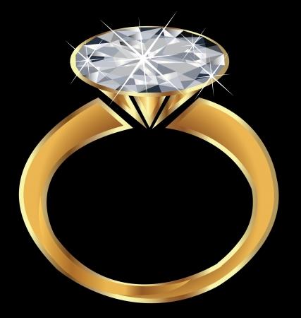 Diamond Ring éclat Banque d'images - 15252959