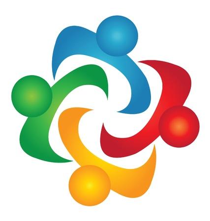 Teamwork solutions people logo