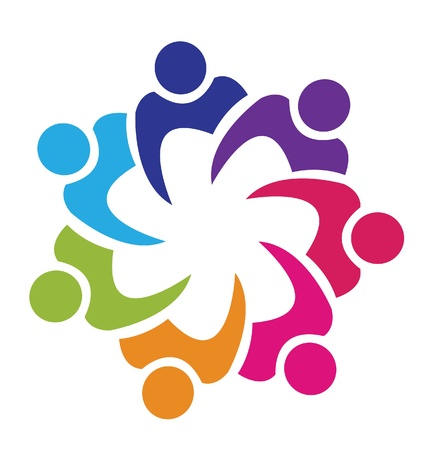 internet logo: Teamwork union people logo  Illustration