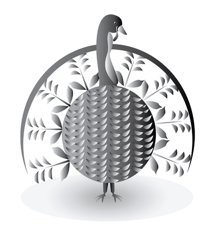 Turkey bird for thanksgiving day  Vector
