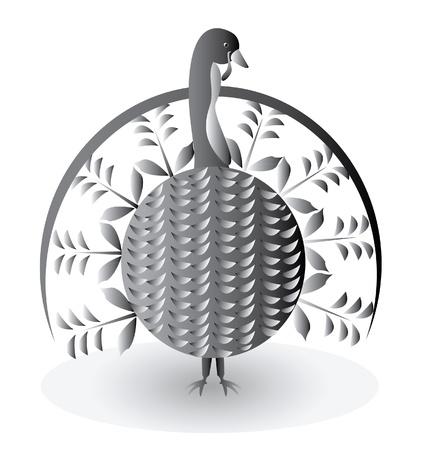 wattle: Turkey bird for thanksgiving day  Illustration