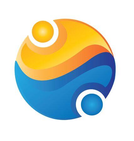People team around the world logo Stok Fotoğraf - 15341114