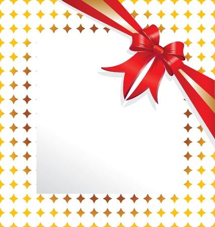 eacute: Red nastro di carta per la copia di testo