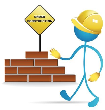 建設: 労働者および建設のベクター素材