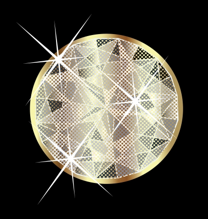 Beautiful sparkling gold sapphire vector Ilustrace