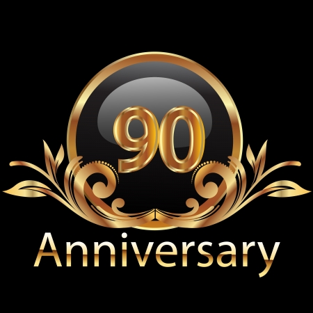 90 anniversary happy birthday Vector