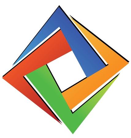 cuadrados: Diamante cuadrado geom�trico Vectores