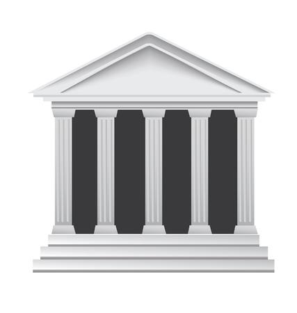 colonna romana: Colonne di antico edificio storico greco banca