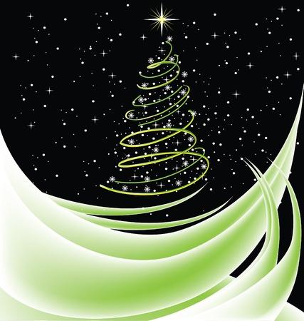 Christmas tree card Stock Vector - 15804627