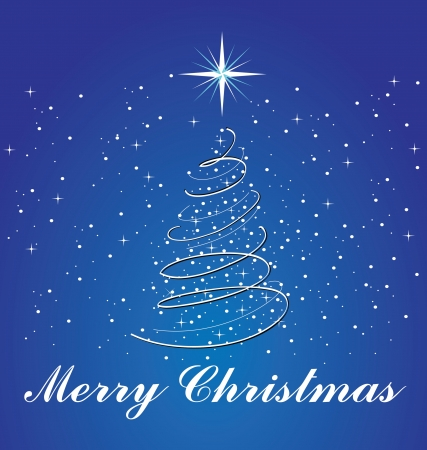 Christmas tree greetings card Stock Vector - 15829832