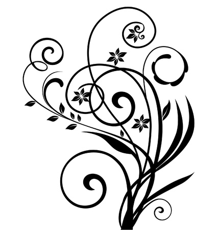 bordure vigne: Swirly floral