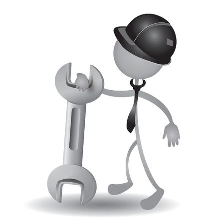 Las personas con un vector de llave Foto de archivo - 15844667
