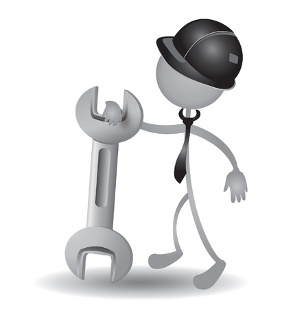People with a wrench vector Stock Vector - 15844667