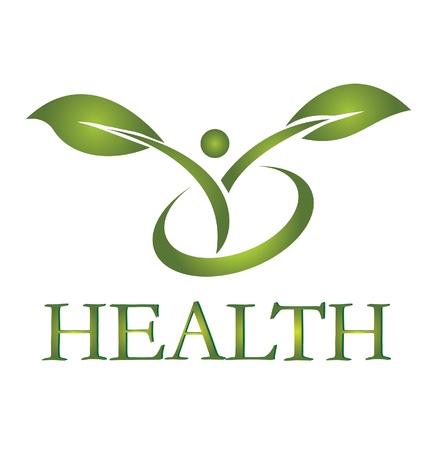 logos negocios: Logotipo de vida sana Vectores