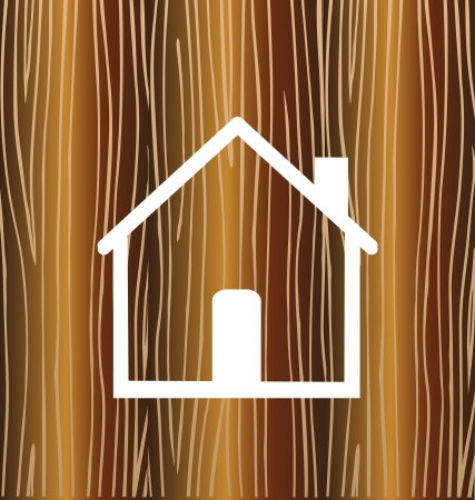 two companies: House concept with wood background