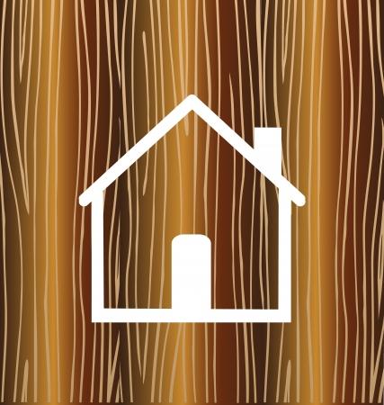 Huis concept met hout achtergrond