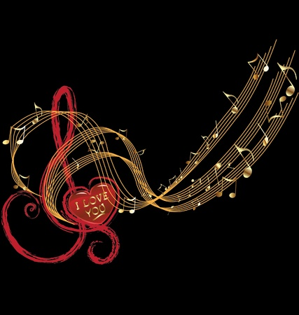 Music notes and love