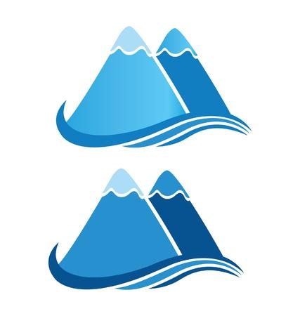 Logo Montagnes Banque d'images - 15886323