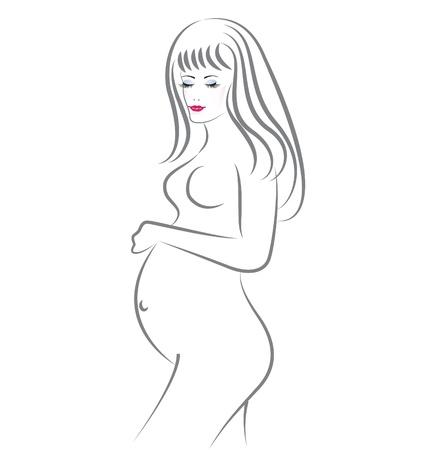 Pregnant beauty woman
