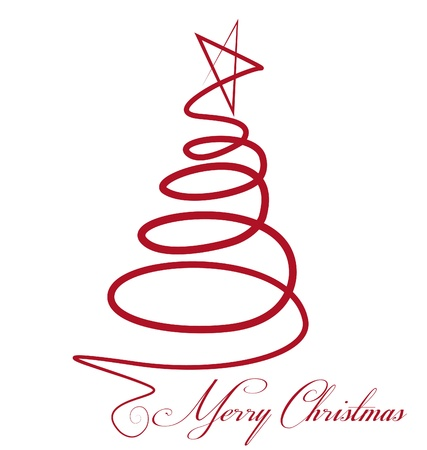 christmas decorations with white background: Christmas tree vector