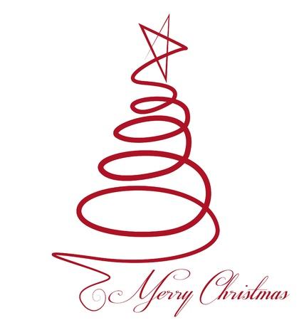 boldog karácsonyt: Karácsonyfa vektor
