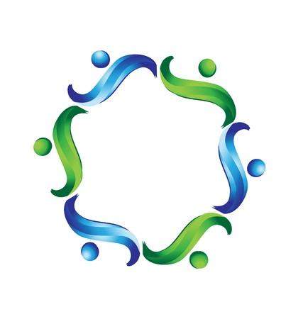 Teamwork business logo vector Standard-Bild - 16220127
