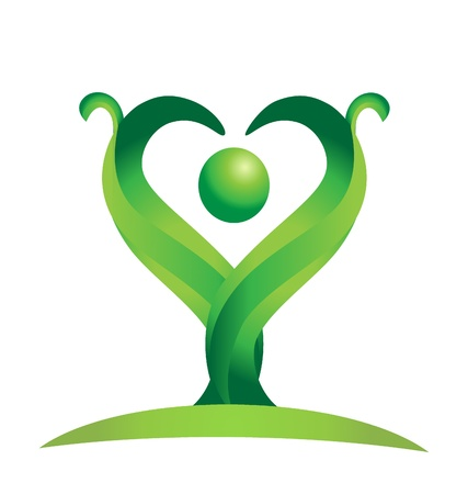 cultivate: Figure representing the green nature logo design