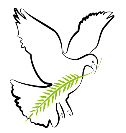 Dove vector silueta