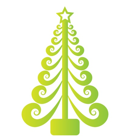 Green Christmas tree  Stock Vector - 16418659