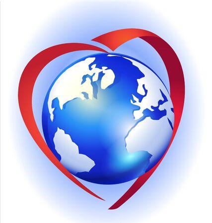 Love the earth logo  Ilustracja