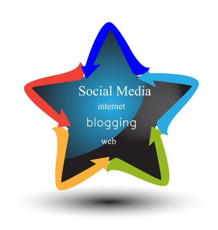 Social media and networking concepts logo