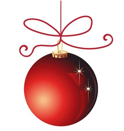 Roja Navidad bola decoración Vectores