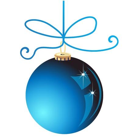 xmas party: Blue Christmas ball decoration