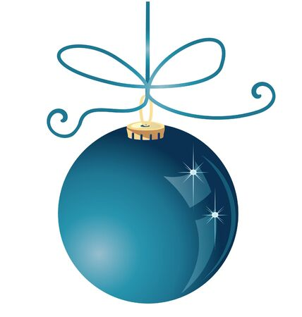 Christmas ball decoration Vector