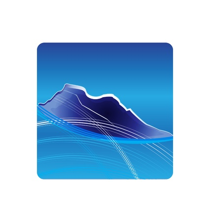Blue Mountains logo design  Vector