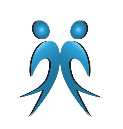 Happy men business partners logo Stock Vector - 16526540