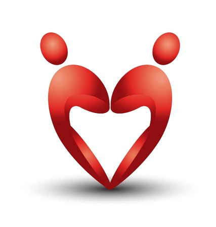 Heart figures logo   Vector