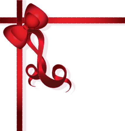 Red Bow for gifts   Vector