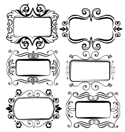scroll shape: Antique vintage frames for designs